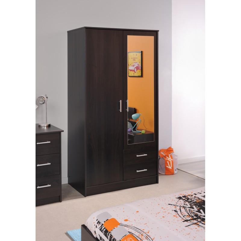Universal caf armoire 2 portes 2 tiroirs for Armoire 2 porte