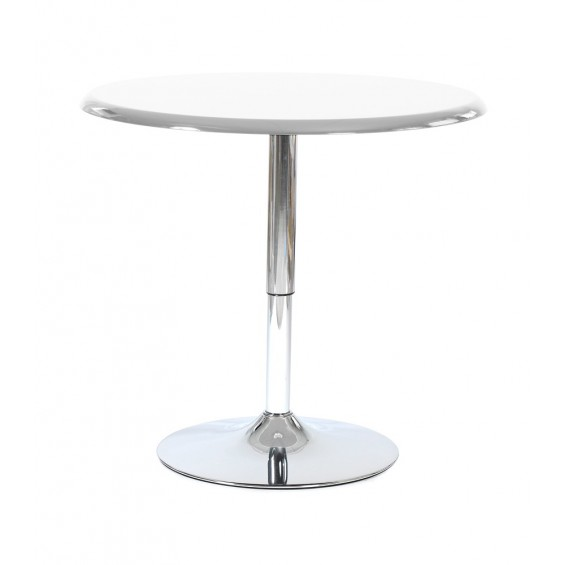 David table ronde blanche neuf ebay for Table ronde laquee blanche