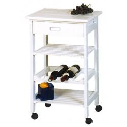 Como - Meuble Roulant Blanc