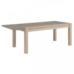 Living - Table rectangulaire + 2 allonges
