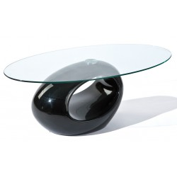 Helena Black - Table basse ovale