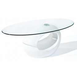 HELENA WHITE - Table basse ovale