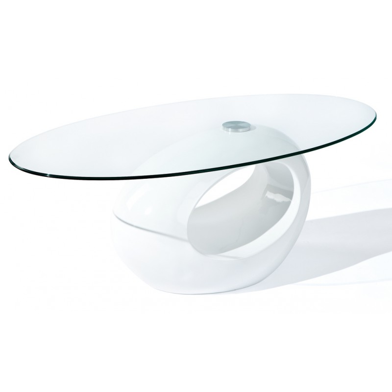 Helena white table basse ovale - Table basse design ovale ...