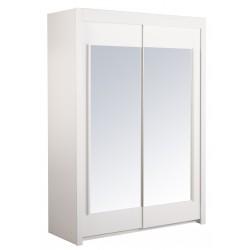 Universal Blanc - Armoire 2 Portes Coulissantes