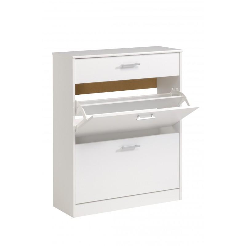 Universal blanc meuble chaussures 2 portes 1 tiroir - Meuble a chaussure exterieur ...