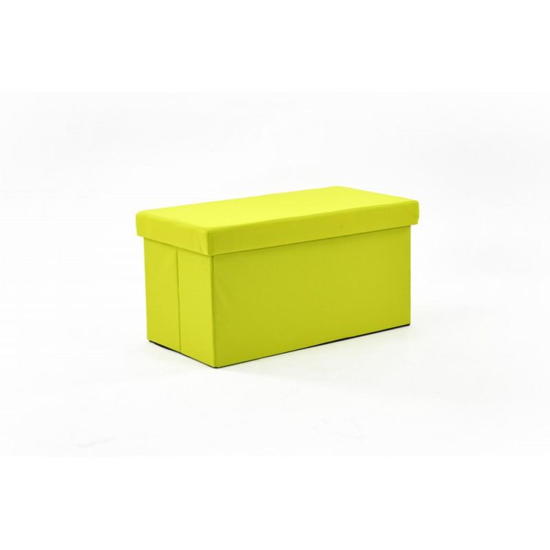 cuba pouf coffre pliant vert. Black Bedroom Furniture Sets. Home Design Ideas