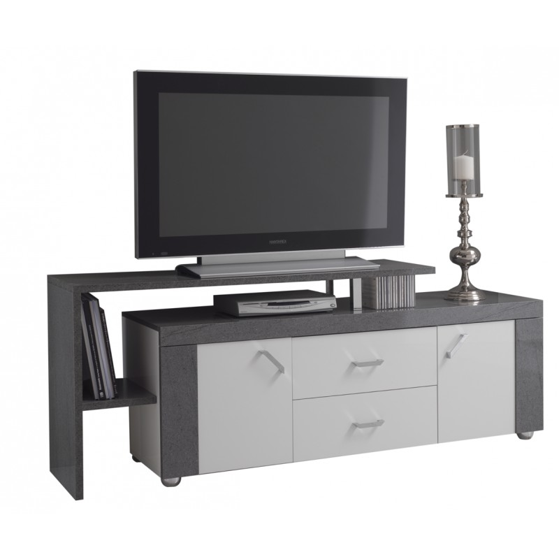 luna meuble tv avec plateau. Black Bedroom Furniture Sets. Home Design Ideas