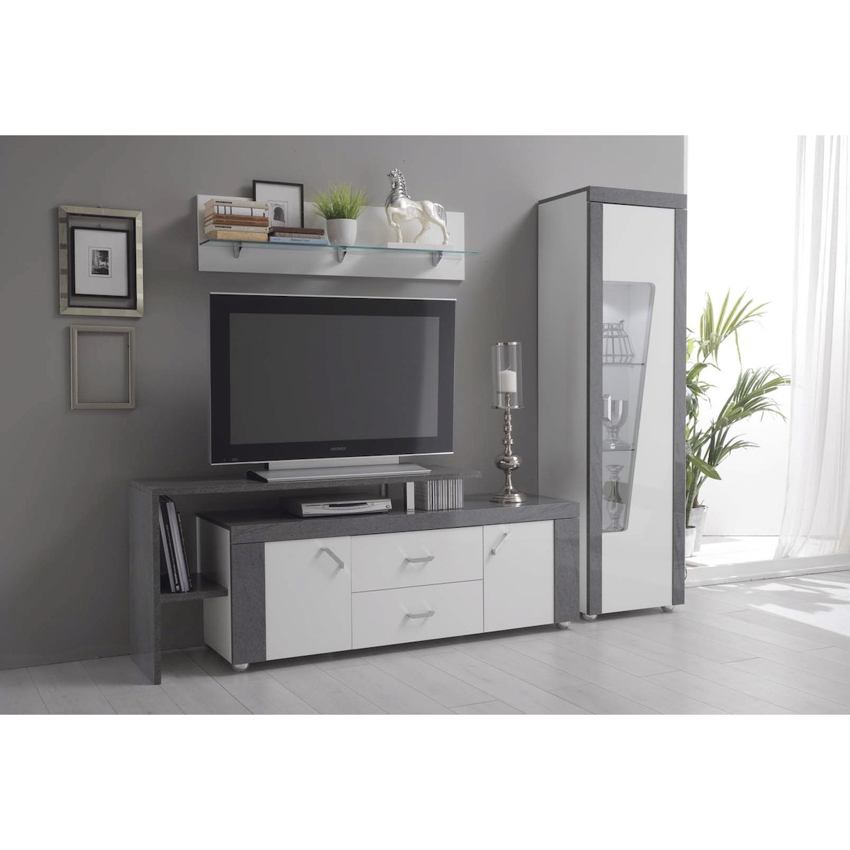 altobuy luna meuble tv avec plateau neuf eur 709 99 picclick fr. Black Bedroom Furniture Sets. Home Design Ideas
