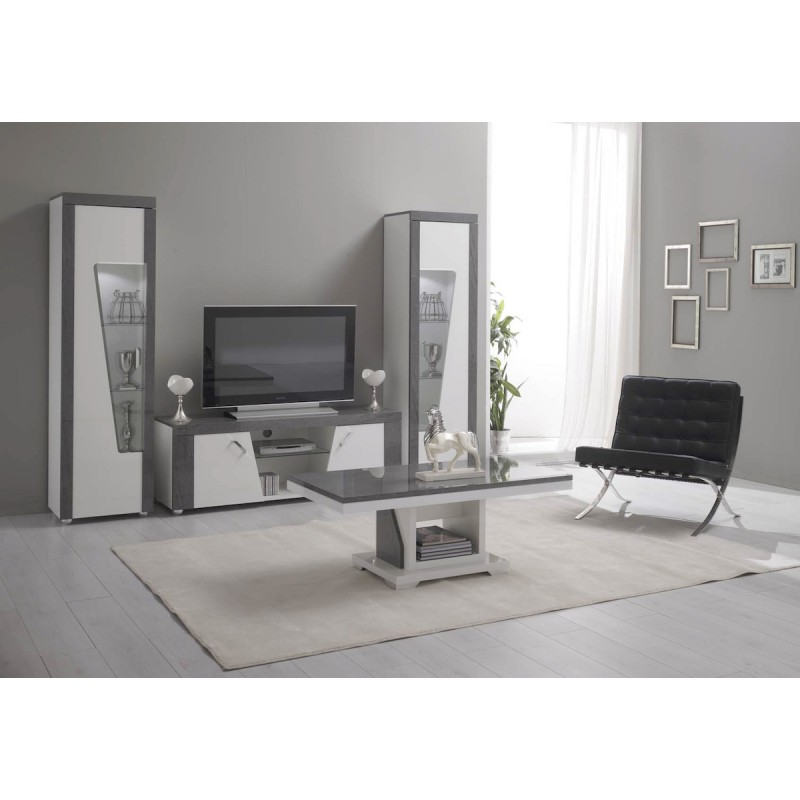 luna meuble tv vitrine. Black Bedroom Furniture Sets. Home Design Ideas