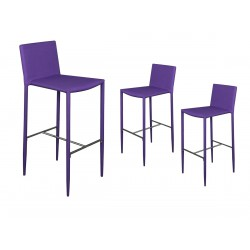 Loola - Lot de 3 Tabourets de Bar Violets