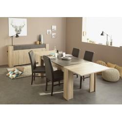 Leeds Brut - Ensemble Table avec Allonge + Buffet