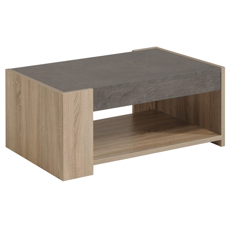 Leeds Brut  Ensemble Table Basse + Meuble TV -> Meuble Table Basse