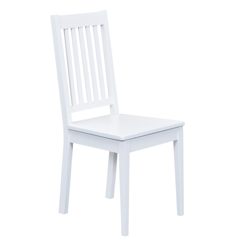Socoa lot de 4 chaises blanches for Chaise blanches