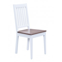 Socoa - Chaise Blanche et brun sépia