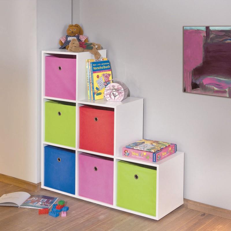 squareboxx bac de rangement rose. Black Bedroom Furniture Sets. Home Design Ideas