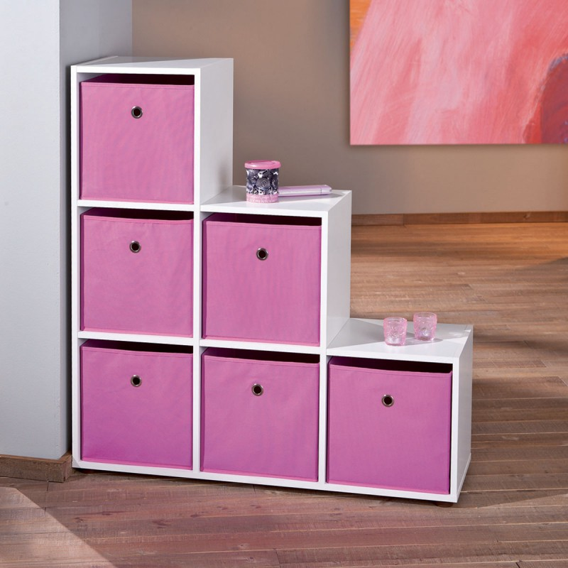 squareboxx bac de rangement rose. Black Bedroom Furniture Sets. Home Design Ideas
