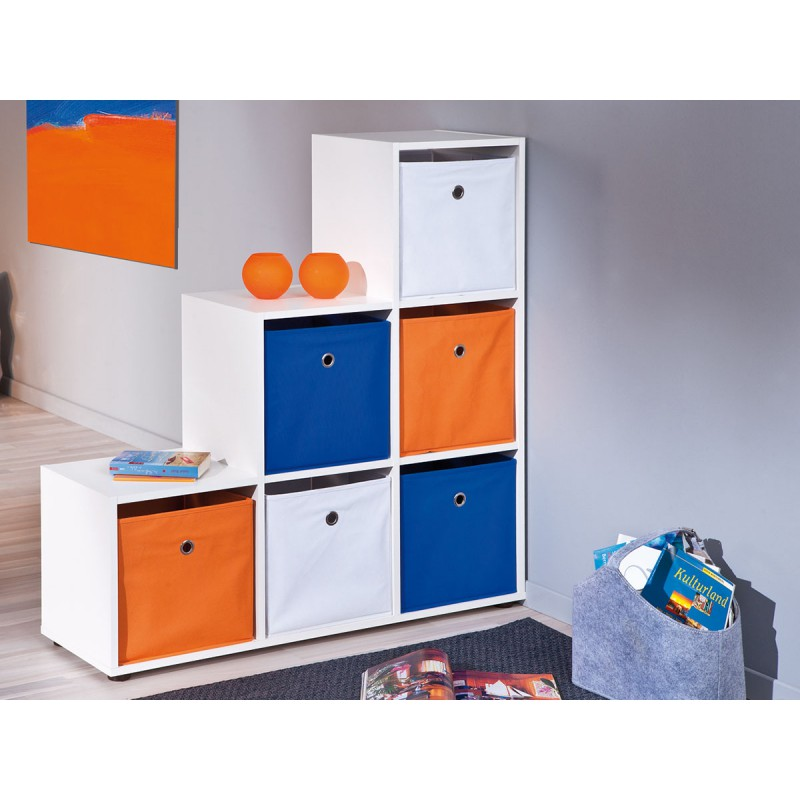 squareboxx bac de rangement bleu. Black Bedroom Furniture Sets. Home Design Ideas