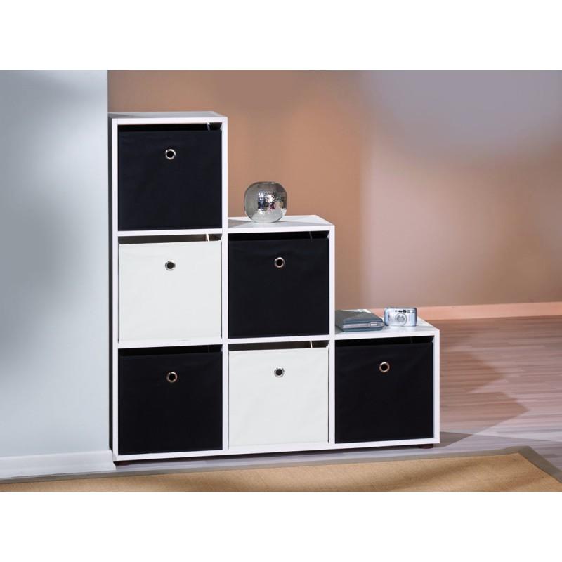 Squareboxx - Bac de Rangement Noir - Altobuy.fr,Meuble, Salon, Literie