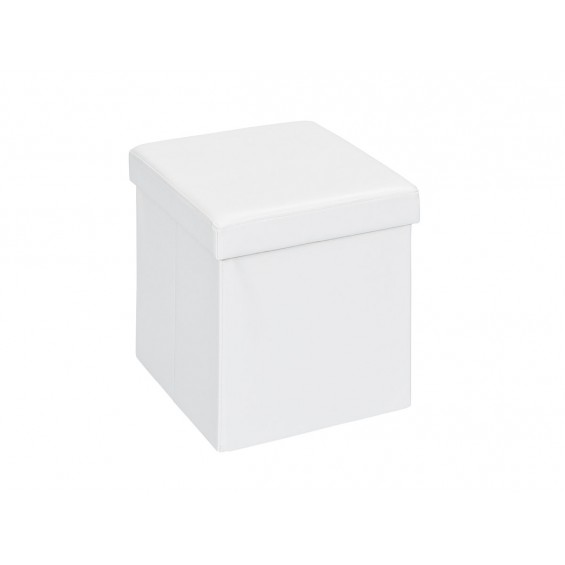 Warren - Pouf Coffre Pliant Blanc