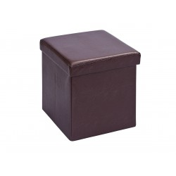 Warren - Pouf Coffre Pliant Marron