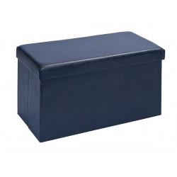 WARREN XL - Pouf Coffre Pliant Noir