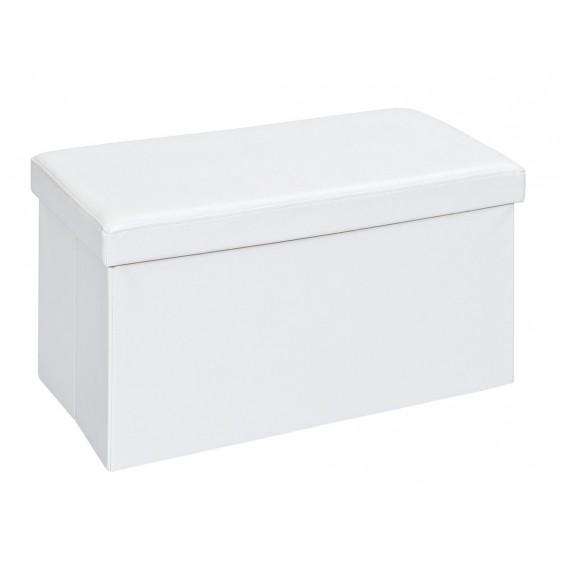 Warren XL - Pouf Coffre Pliant Blanc