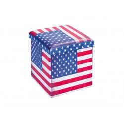 Warren - Pouf Coffre Pliant USA