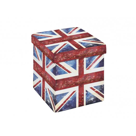 Warren - Pouf Coffre Pliant Union Jack