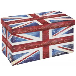 Warren XL - Pouf Coffre Pliant Union Jack