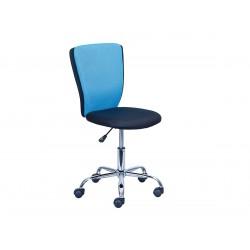Neo - Chaise de Bureau Bleue et Noire