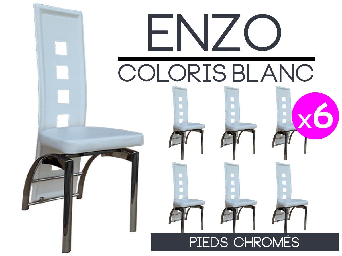lot de 6 chaises blanches simple altobuy hartford lot de chaises grises et blanches with lot de. Black Bedroom Furniture Sets. Home Design Ideas