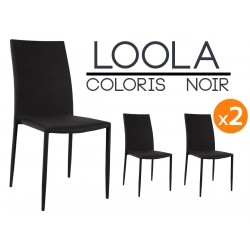 Loola - Lot 2 Chaises Noires