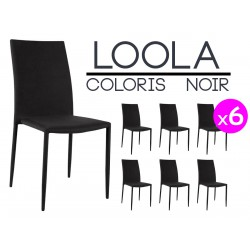 Lot de 6 chaises for Lot 6 chaises noires