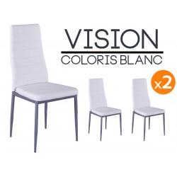 Vision - Lot de 2 Chaises Blanches