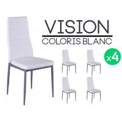 Vision - Lot de 4 Chaises Blanches