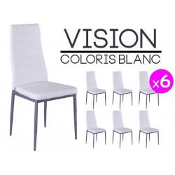 Vision - Lot de 6 Chaises Blanches