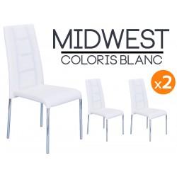 Midwest - Lot de 2 Chaises Blanches