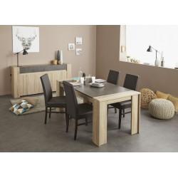 Leeds Brut - Ensemble Table Rectangulaire + Buffet