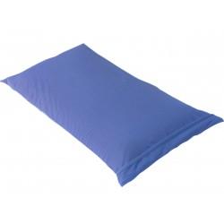 Fresh - Taie d'Oreiller 60x60cm Bleu Azur Imperméable et Respirante