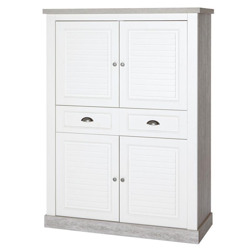 Conrad meuble bar 4 portes 1 tiroir for Meuble 4 portes but