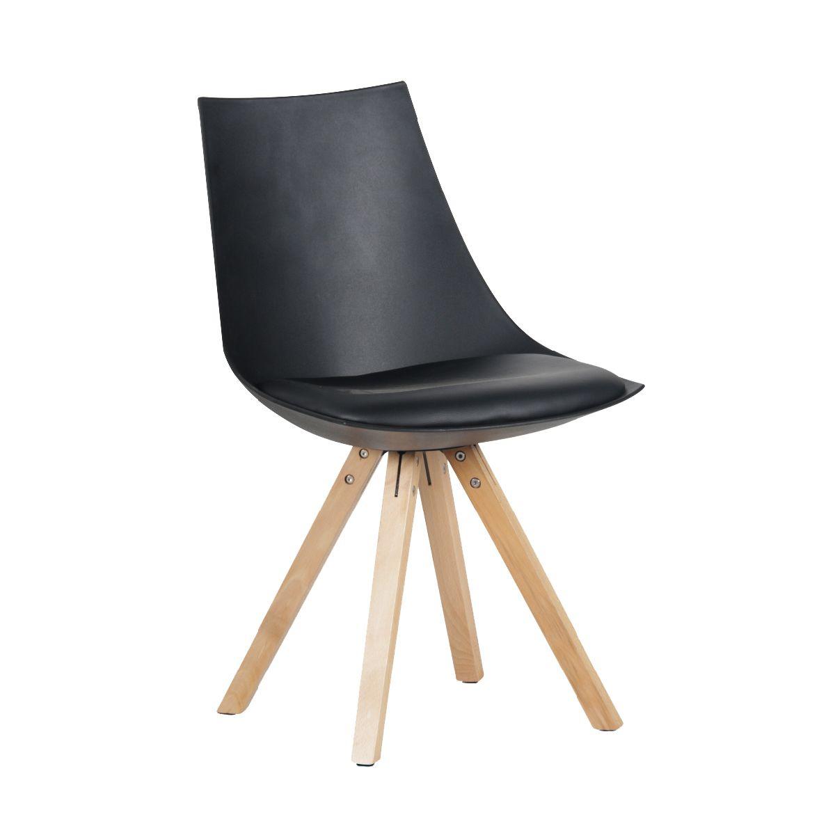 Altobuy hopen lot de 2 chaises noires neuf ebay - Lot de chaises noires ...