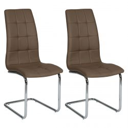 Cally - Lot de 2 Chaises Moka