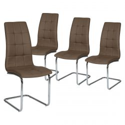 Cally - Lot de 4 Chaises Moka