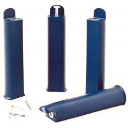 PLAST - Jeu de 4 pieds 22 cm bleus pour cadre à lattes