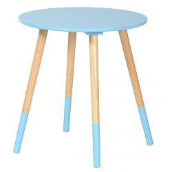 Bjarni - Table Basse Ronde Bleue