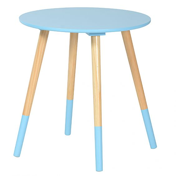 bjarni table basse ronde bleue. Black Bedroom Furniture Sets. Home Design Ideas