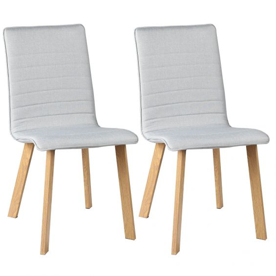 Leck - Lot de 2 Chaises Grises