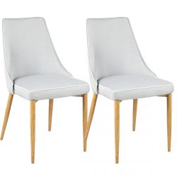 Moss - Lot de 2 Chaises Grises