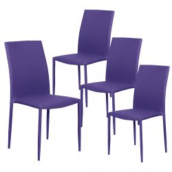 Loola - Lot 4 Chaises Prune
