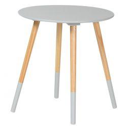 Bjarni - Table Basse Ronde Grise